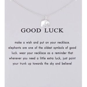 💎2 for $15💎 Elephant Good Luck Mantra Necklace